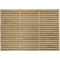 Contemporary Double Slatted Fence - Natural timber / 5 / 120cm