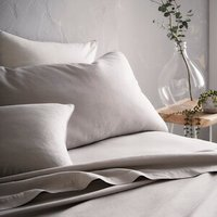 Portfolio Home Aspect Fitted Sheet - Silver / Super King