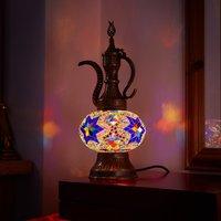 Turkish Teapot Mosaic Glass Size 3 Multi - Multi Coloured
