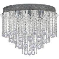 8 Light Spiral Chandelier - Silver