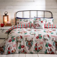 25th December Multi Printed Duvet Cover and Pillowcase Set - Single