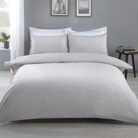 Eli Pom Pom Duvet Cover and Pillowcase Set - Grey / Double