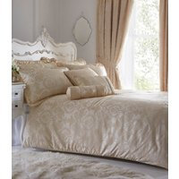 Sandringham Duvet Cover and Pillowcase Set - Ivory / Super King