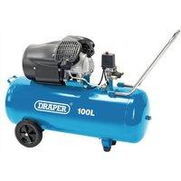 Draper 100L V Twin Air Compressor 2.2Kw - Blue
