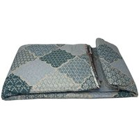 Beautiful Printed Quilted Bedspread Throw - D340