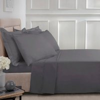 Polycotton Flat Sheet - Charcoal / King