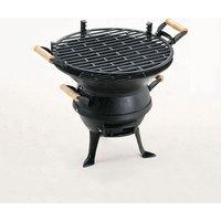 Grill Chef Cast Iron Barrel Barbecue - Black