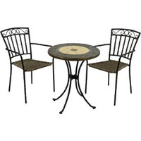 Rennes Bistro Set With Two Modena Chairs