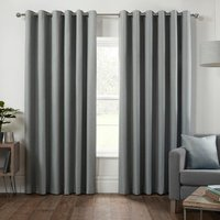Hoxton Blackout Eyelet Curtains - Duck Egg / 229cm / 168cm