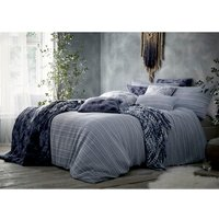 Portfolio Home Maya Duvet Cover and Pillowcase Set - Blue / Super King