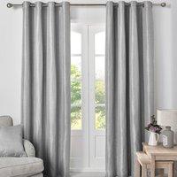 Killarney Blockout Eyelet Curtains - Silver / 168cm / 137cm