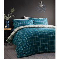 Iona Duvet Cover and Pillowcase Set - Teal / Single
