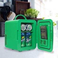 Coca-Cola Polar Bear Portable 6 Can Thermoelectric Mini Fridge - Green