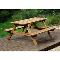 Charles Taylor Six Seater Picnic Table Gold - Redwood