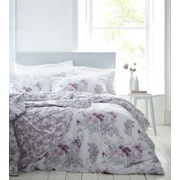 Hampton Duvet Cover and Pillowcase Set  - Pink / Double