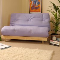 Lilac Double 4ft6 Luxury Futon Sofa Bed
