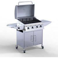 HEATSURE 4 Burner BBQ Gas Grill Stainless Steel - Sliver