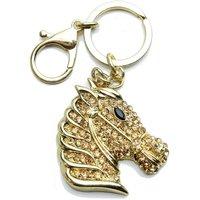 55mm Horse Head Handbag Buckle Charm - Gold