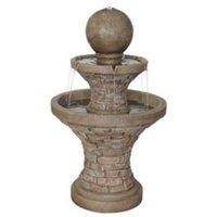 Natural Stone Brick Effect Fountain - Stone