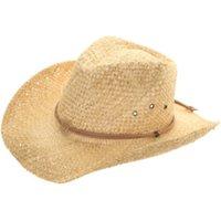 Unisex Straw Cowboy Hat - Natural