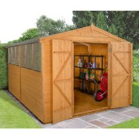 8 x 12ft Shiplap Dip Treated Double Door Apex Shed