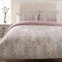 Honour Printed Duvet Cover and Pillowcase Set - Mauve / King