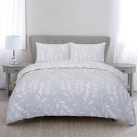 Fearne Silhouette Duvet Cover and Pillowcase Set - Heather / Double