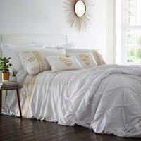Louisiana Duvet Cover and Pillowcase Set - Mustard / Single