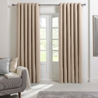 Langdale Eyelet Curtains - Natural / 168cm / 137cm