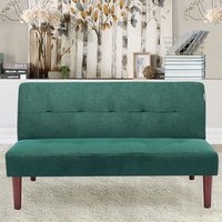 3 Seater Fabric Padded Sofa bed - Green