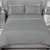 Art Deco Sequin Duvet Cover and Pillowcase Set - Super King