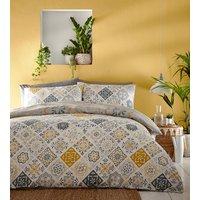 Morocco Duvet And Pillowcase Set - Yellow / Single
