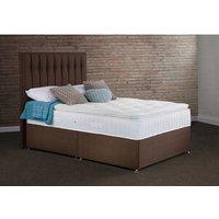 Clovelly Non Storage Divan Bed Set - Chocolate / Single