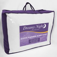 13.5 tog Goose Feather and Down Duvet - White / Super King Size