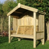Cottage Arbour Fully Enclosed 3 Seater - Pine