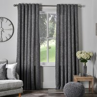Chatsworth Thermal Lined Eyelet Curtains - Slate / 137cm /