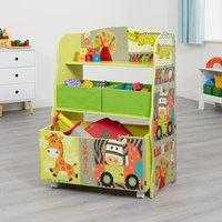 Kid Safari Storage Unit and Toy Box - Multicoloured
