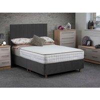 Jonas and James Osbourne Non Storage Divan Bed With Mattress - Steel / Single