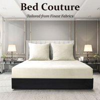 Velvet Flannel Fitted Bed Sheet King - Ivory