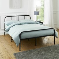 Extra Strong Double Metal Bed Frame In Black - Black / 60cm
