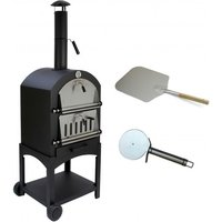 Outdoor Multi function Pizza Oven and Pizza Peel - Black