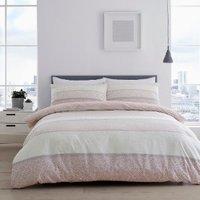 Isana Duvet Cover and Pillowcase Set - Blush / King