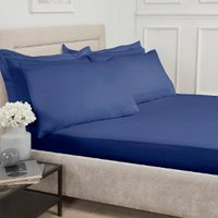 Polycotton Fitted Sheet - Navy / Double