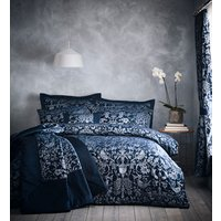 Oak Tree Duvet Cover and Pillowcase Set - Midnight Blue / Double