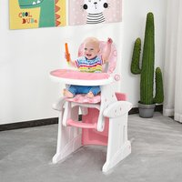 3-in-1 Convertible Baby High Chair Booster Seat - Pink