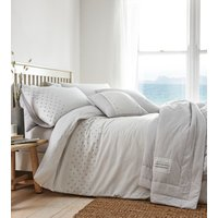 New England Duvet Cover and Pillowcase Set  - Grey / Super King