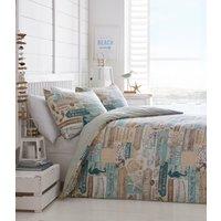 Driftwood Duvet Cover and Pillowcase Set  - Aqua Blue / Super King