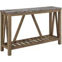 Ohara Rustic Entryway Table - Dark Concrete