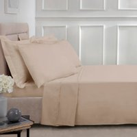 180 Thread Count Cotton Flat Sheet - Natural / King