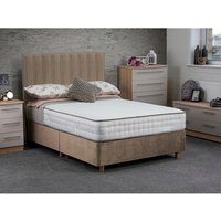 Jonas and James Osbourne Non Storage Divan Bed With Mattress - Stone / Single